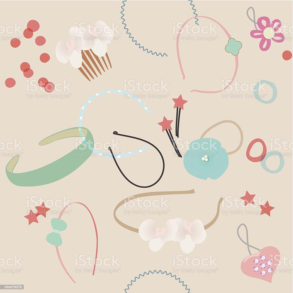 Chic-hair pattern vector art illustration