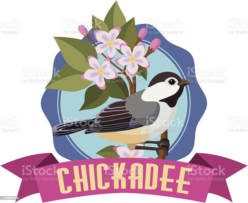 chickadee royalty-free stock vector art