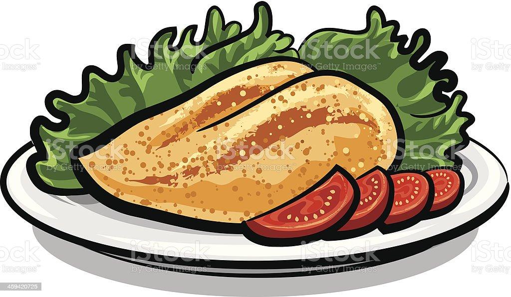 chicken breast vector art illustration