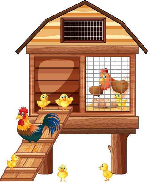 free clipart chicken coop - photo #7