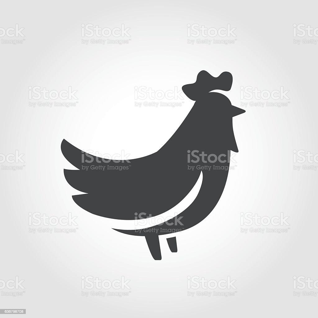 Chicken Icon - Iconic Series vector art illustration