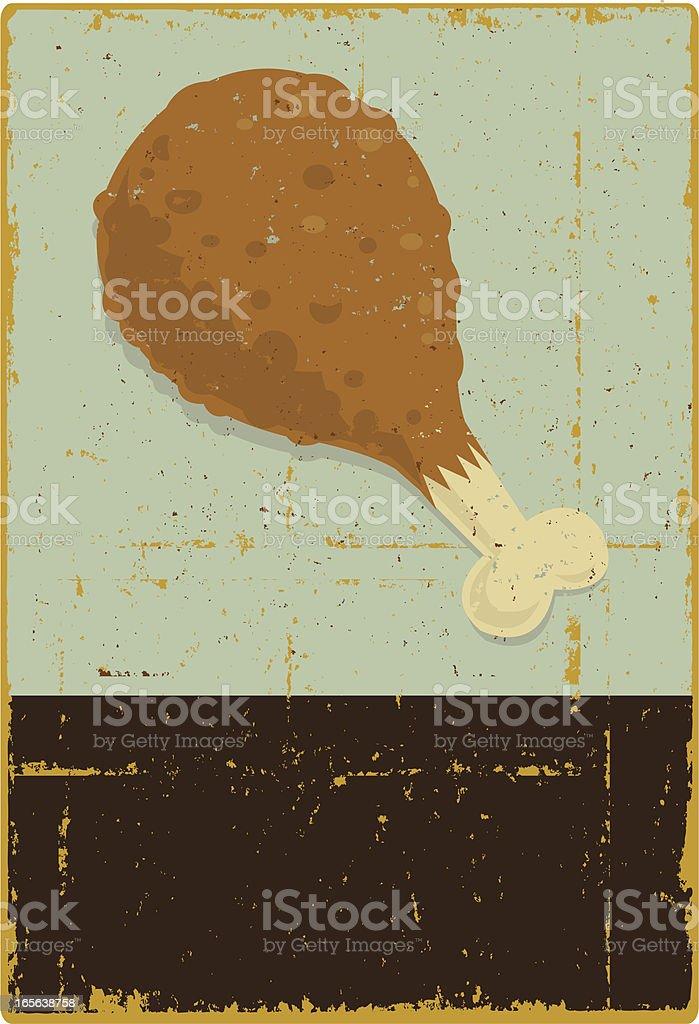 Chicken Leg royalty-free stock vector art