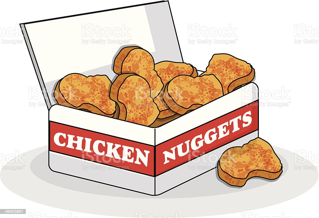 Chicken Nuggets royalty-free stock vector art