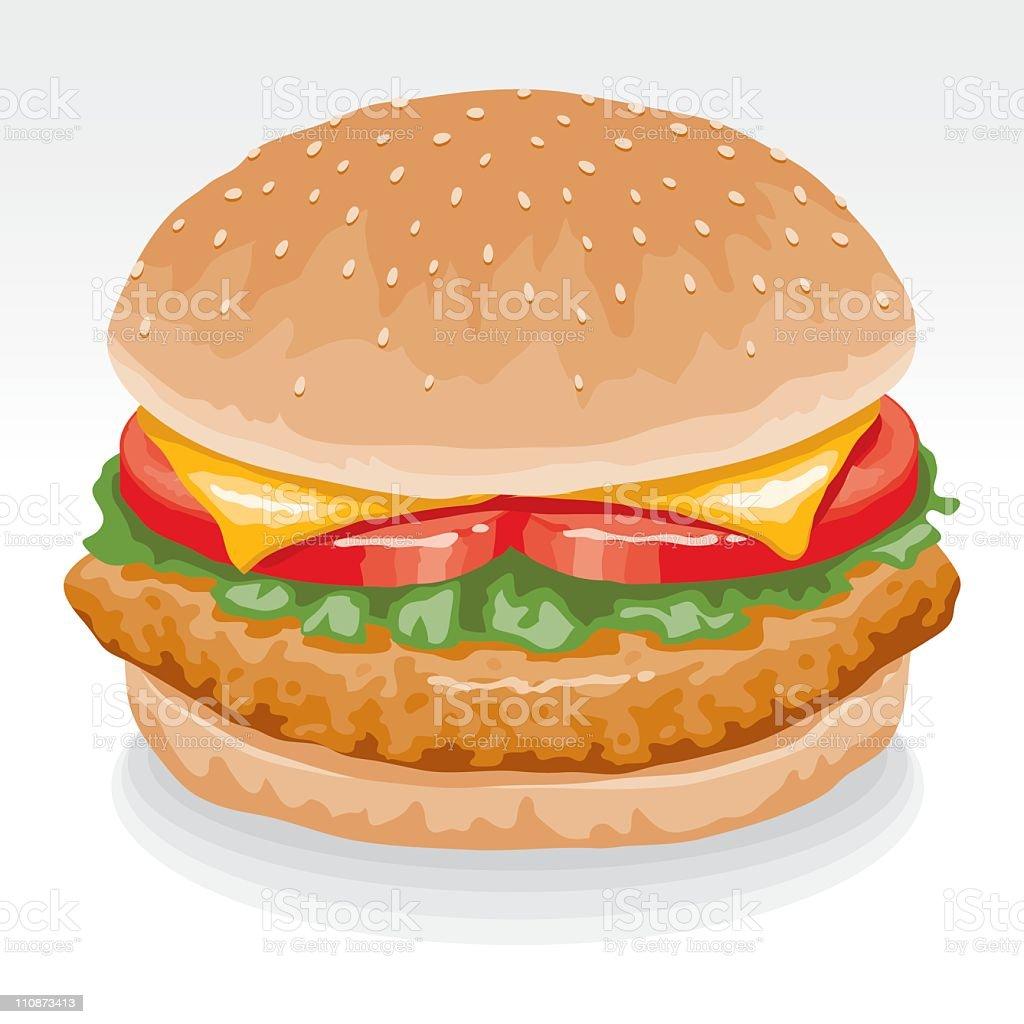 Chicken Sandwich vector art illustration