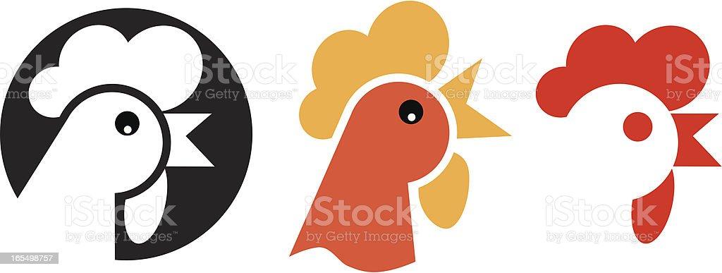 Chicken  symbol vector art illustration