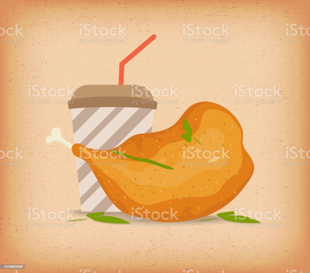 chicken thighs vector art illustration