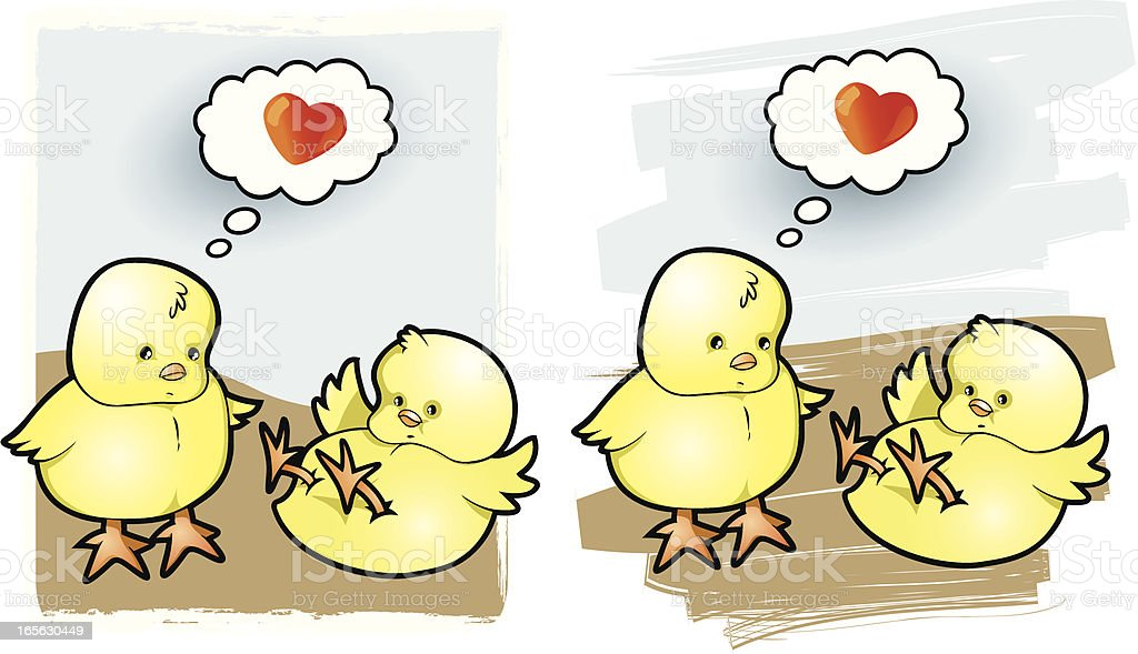 Chickens in Love royalty-free stock vector art