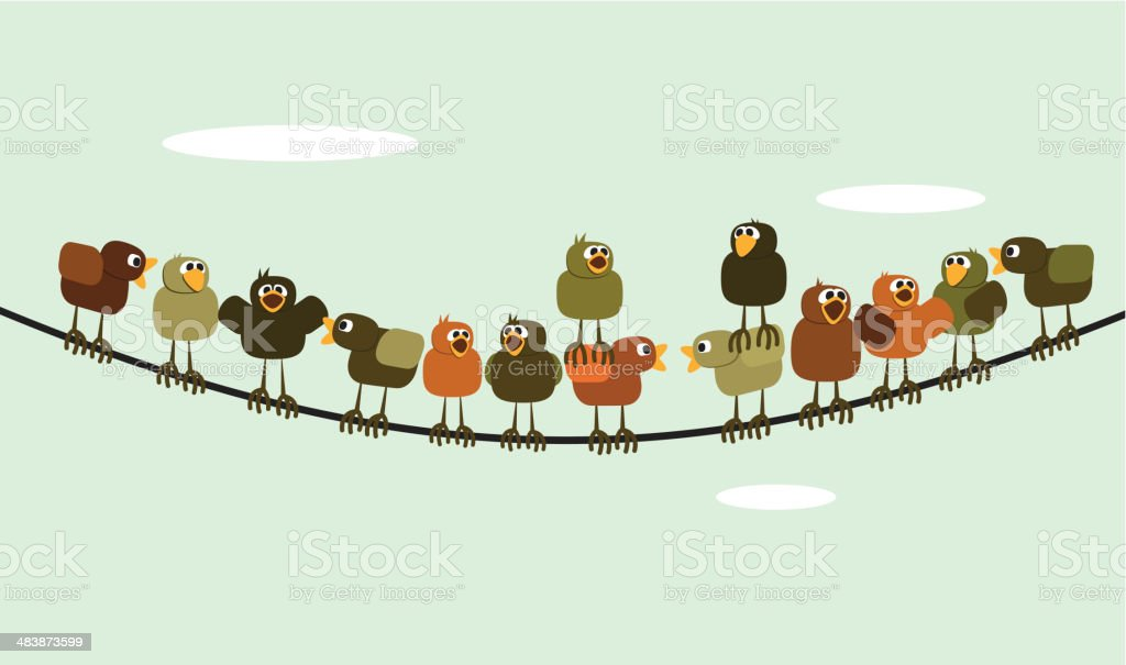 Chickens meeting royalty-free stock vector art