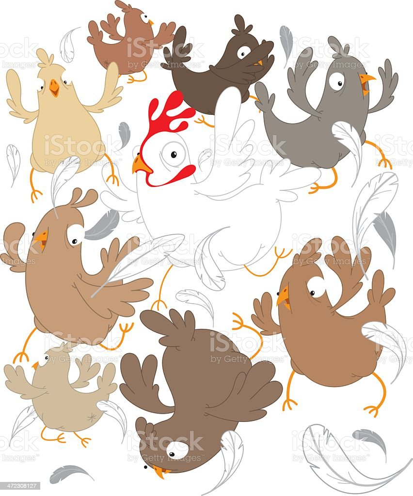 Chickens royalty-free stock vector art