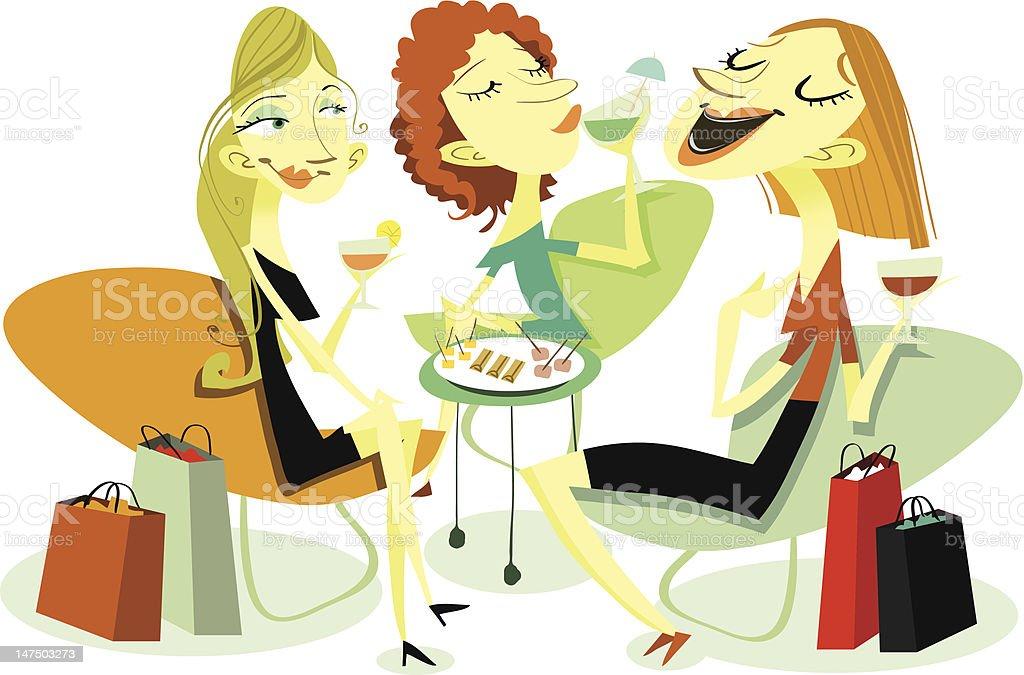 Chicks Chatting vector art illustration