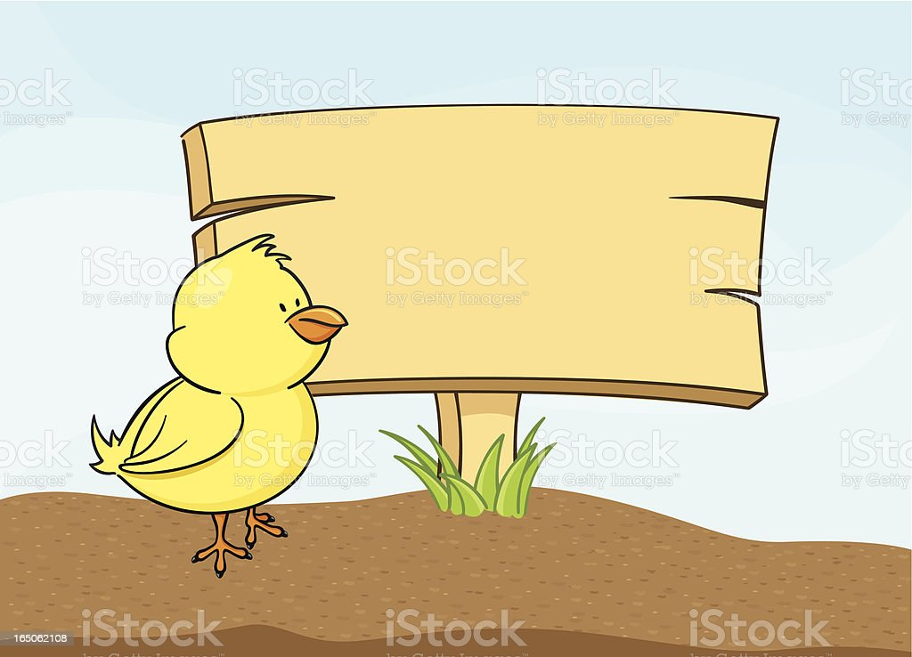 Chick's Message - incl. jpeg royalty-free stock vector art