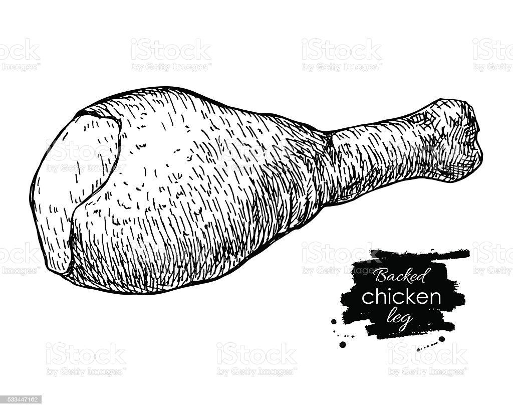 Chiken part 1 vector art illustration