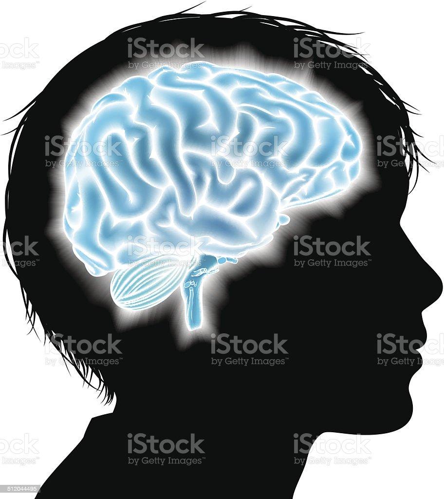 Child brain concept vector art illustration