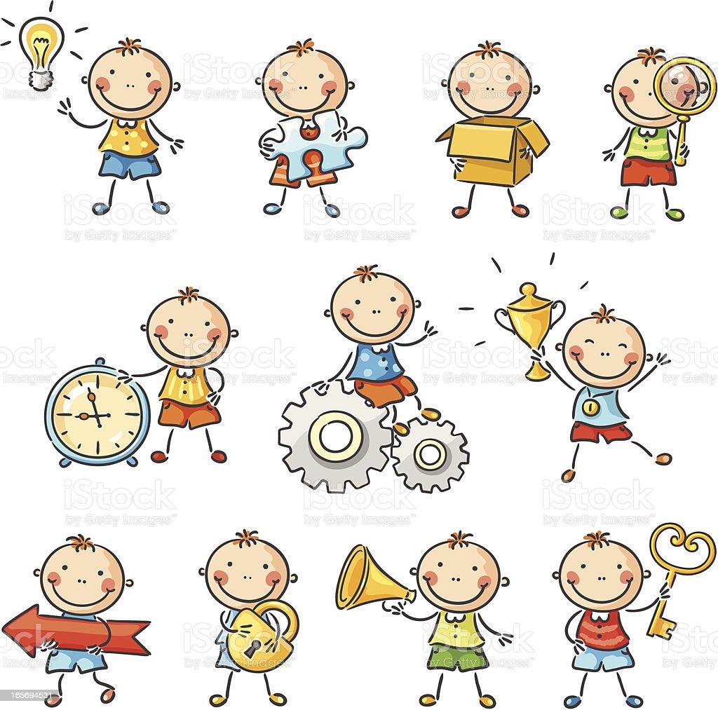 Child Character vector art illustration