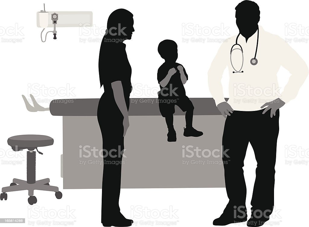 Child Doctor Vector Silhouette royalty-free stock vector art