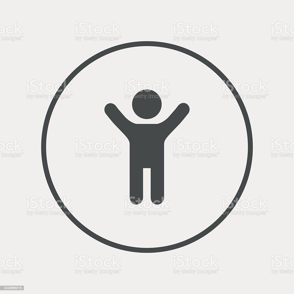 Boy Bathroom Sign Child Icon Happy Young Boy Symbol Stock Vector Art 543066316 Istock