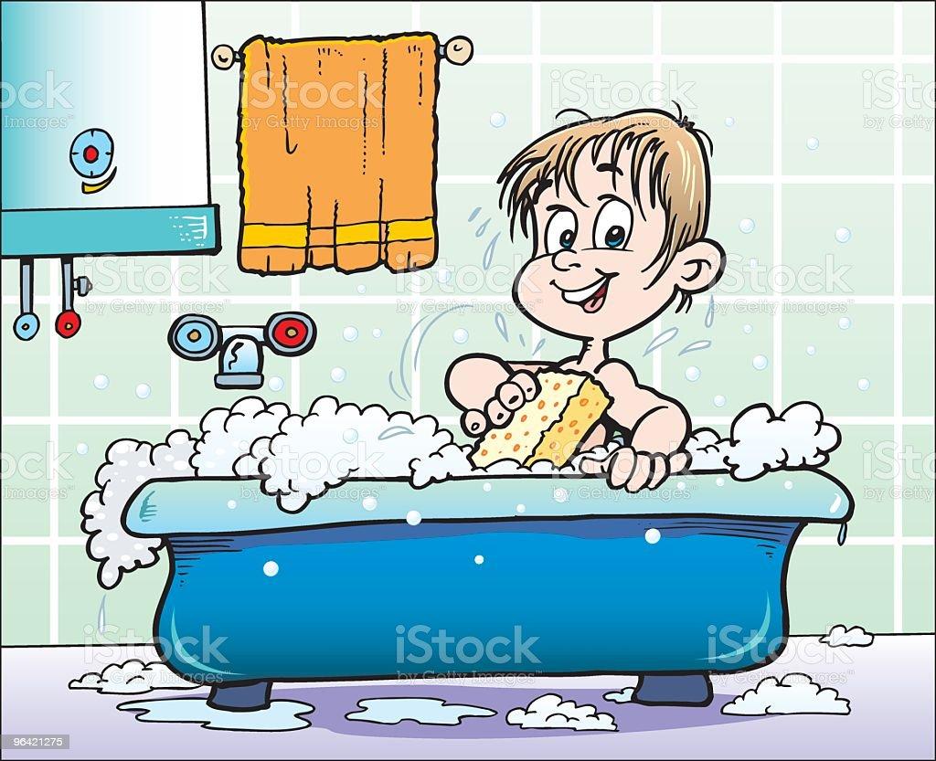 Child is bath royalty-free stock vector art