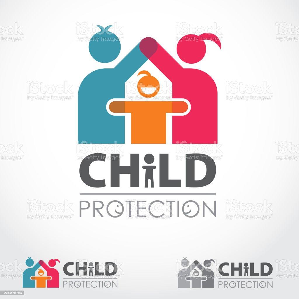 Child Protection Logo vector art illustration