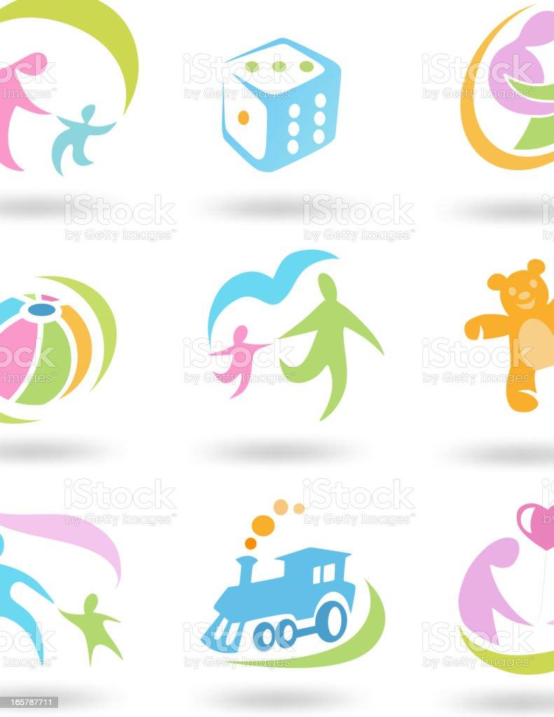 Child set Icon royalty-free stock vector art
