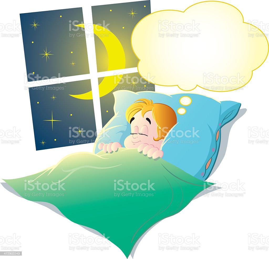 Child sleeping royalty-free stock vector art