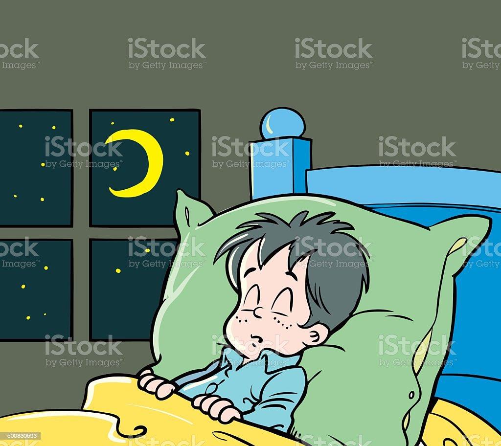 Child sleeps royalty-free stock vector art