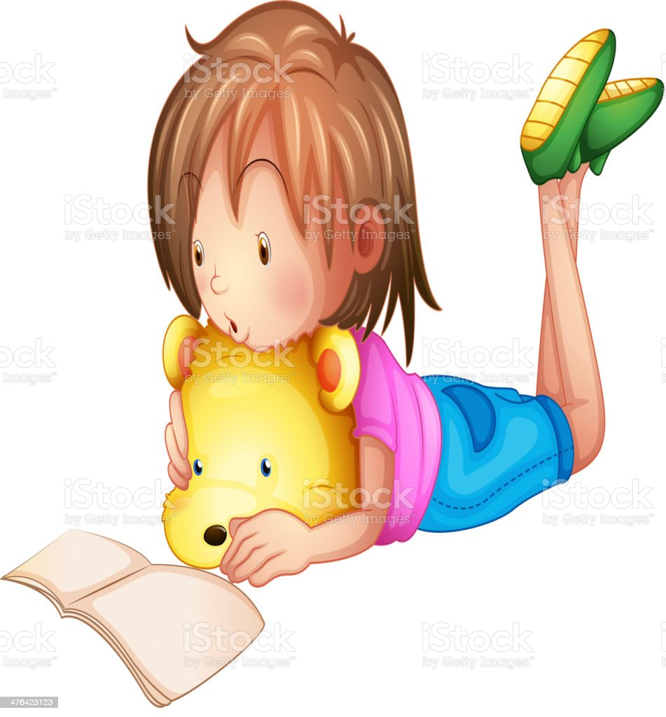 Child studying royalty-free stock vector art