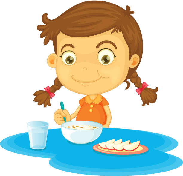 clipart girl eating breakfast - photo #7