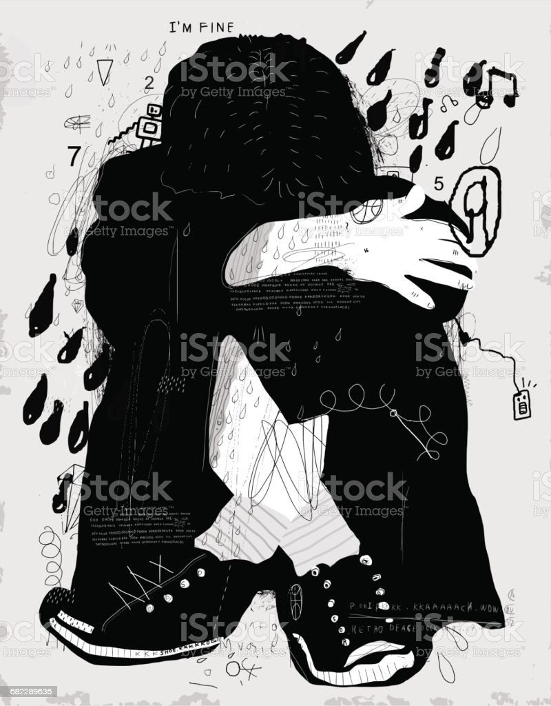 Child vector art illustration