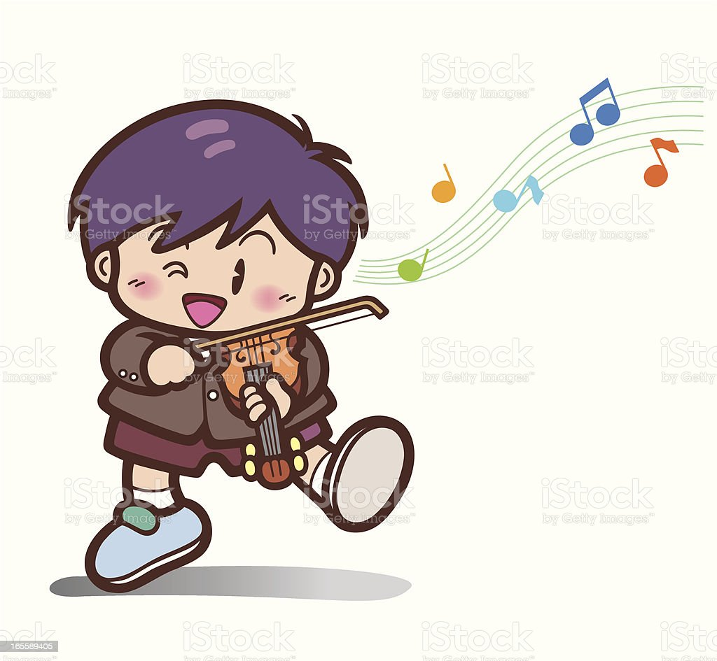 Child Violinist royalty-free stock vector art