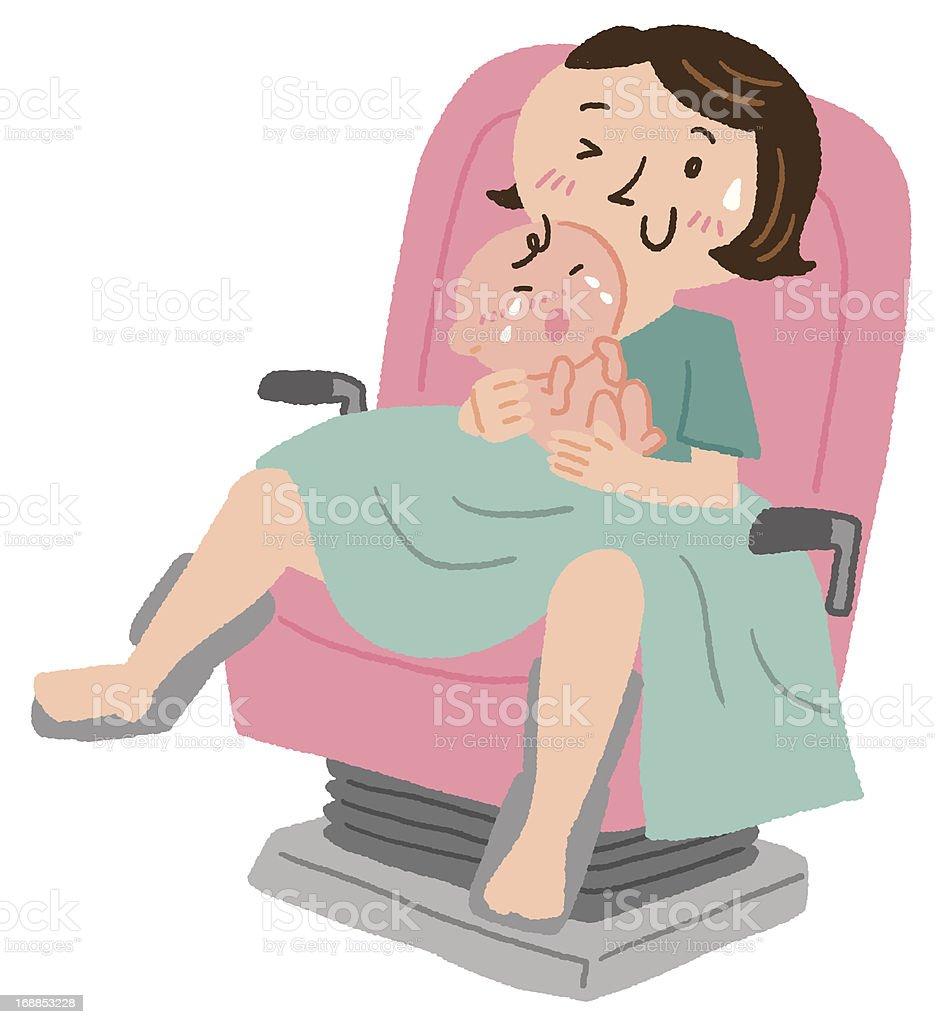 Childbirth vector art illustration