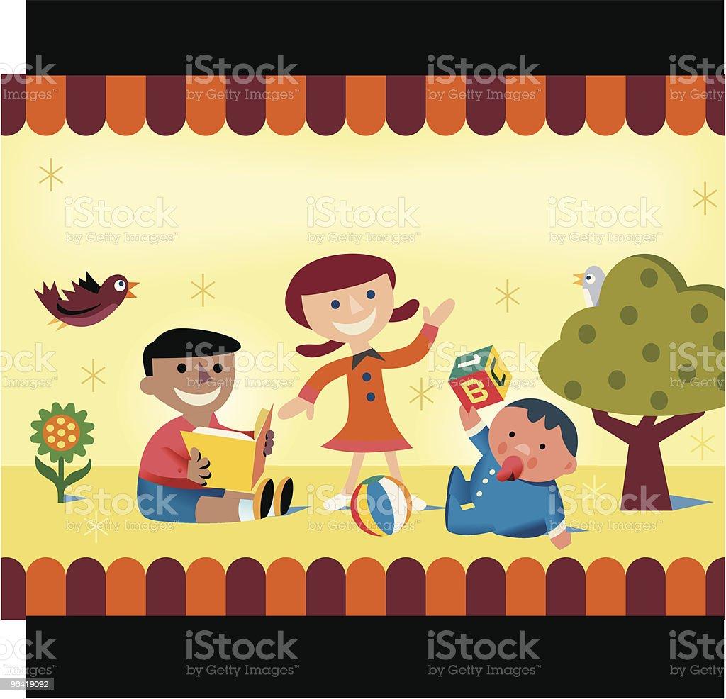 Childcare Kids royalty-free stock vector art