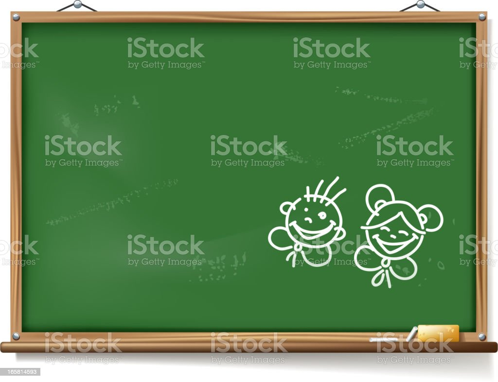 childhood blackboard royalty-free stock vector art