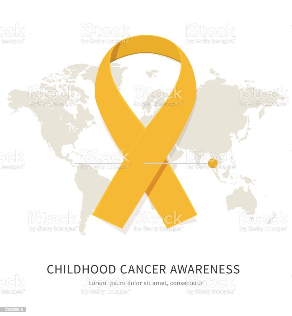 Childhood cancer awareness vector art illustration