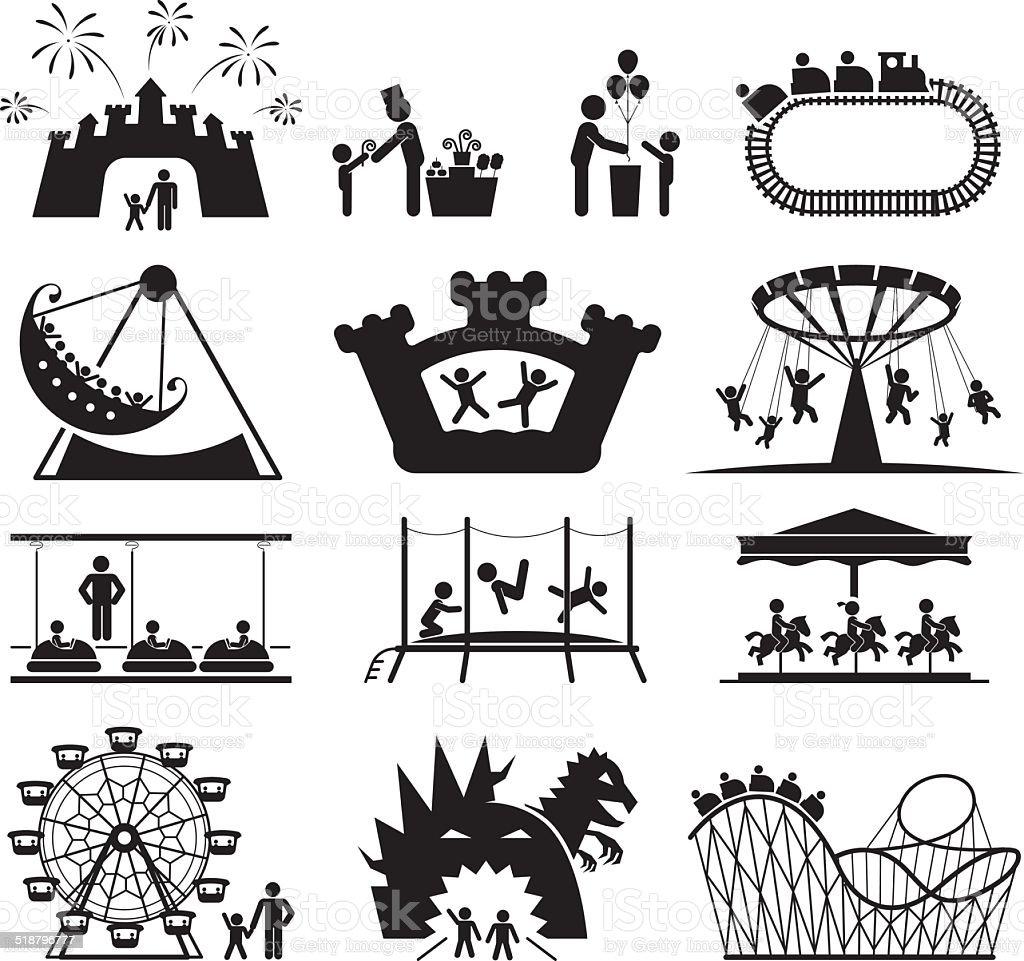 Childhood vector set. Pictogram icon set. vector art illustration