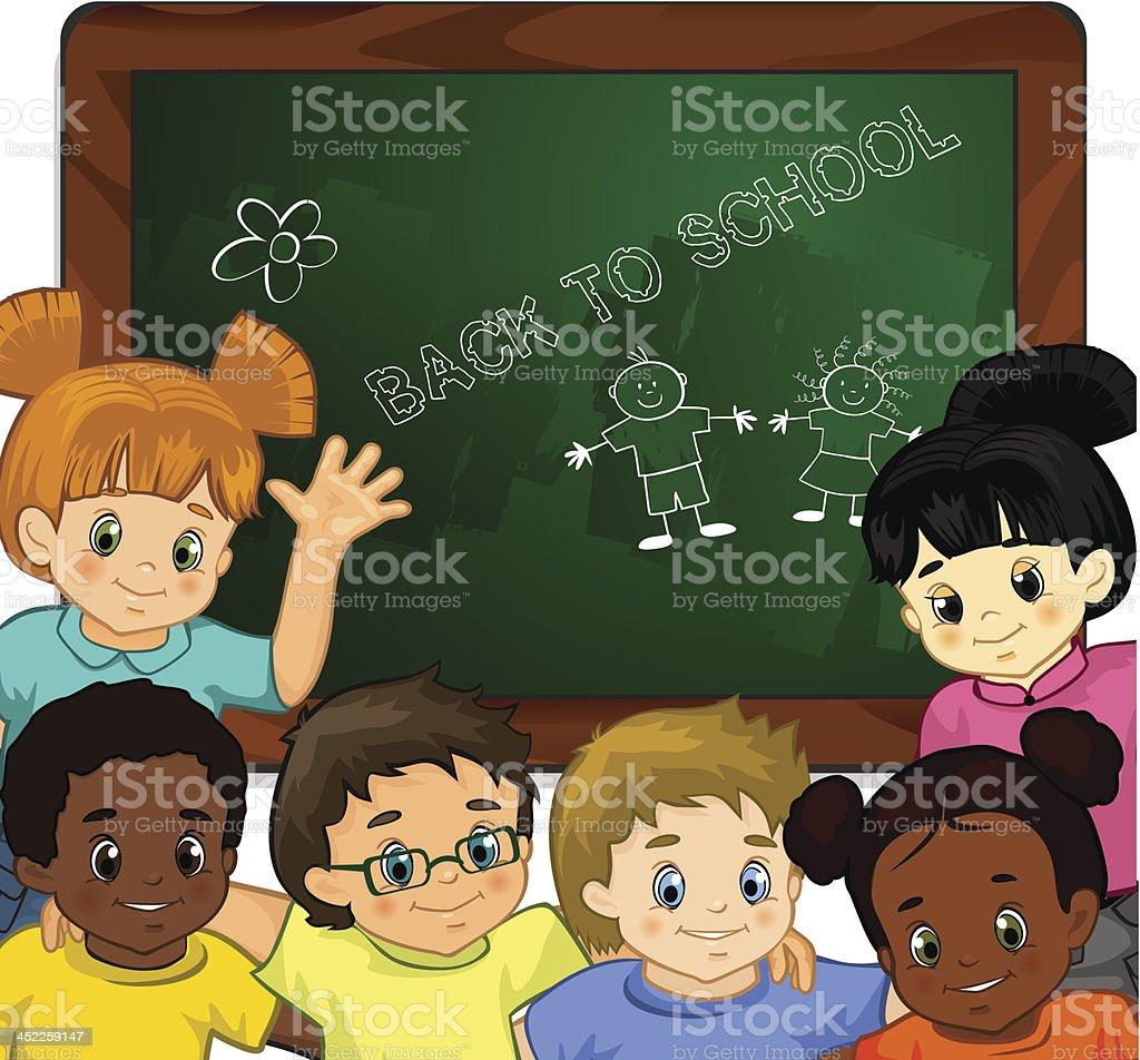 Children at school royalty-free stock vector art