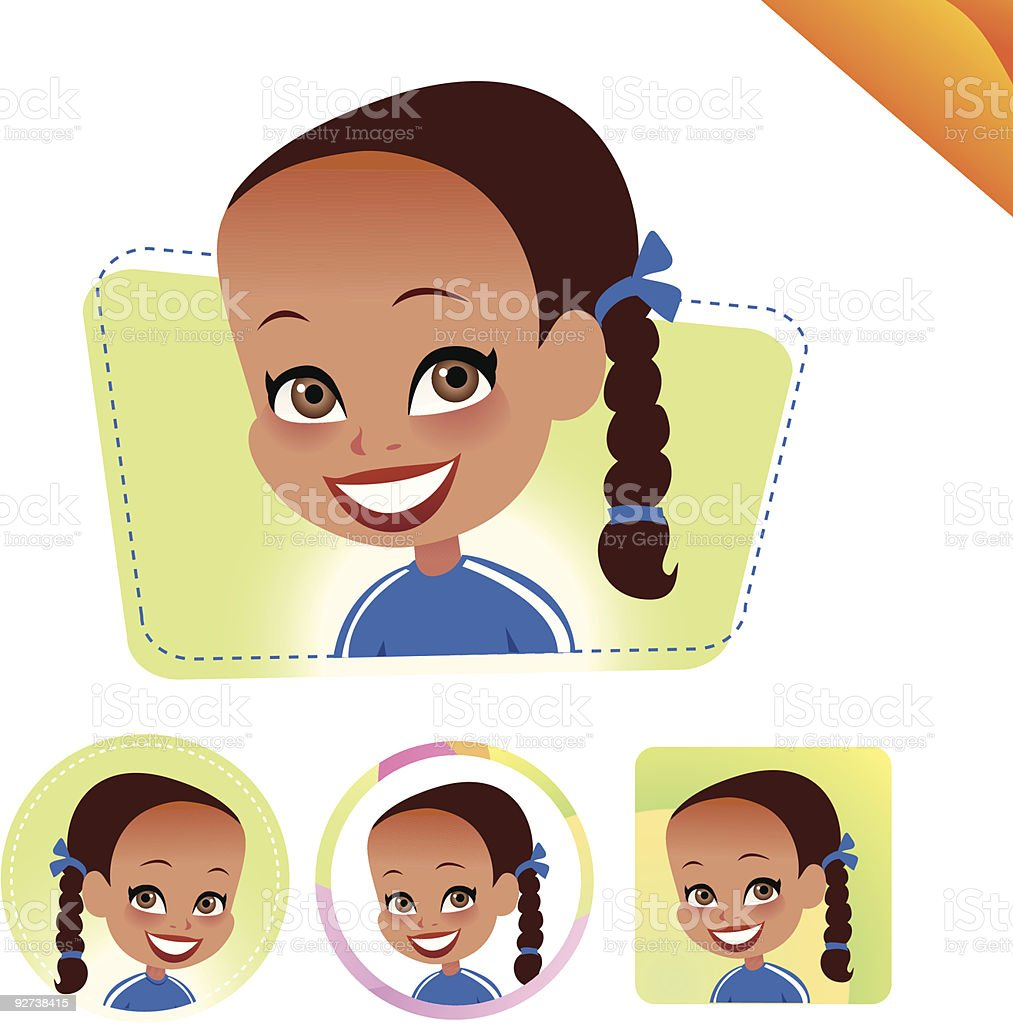 Children Avatar Icon Set- KIDS SET 09 royalty-free stock vector art