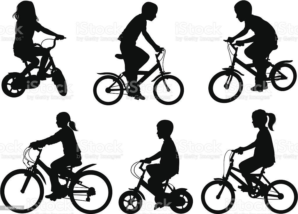 children bicycle royalty-free stock vector art