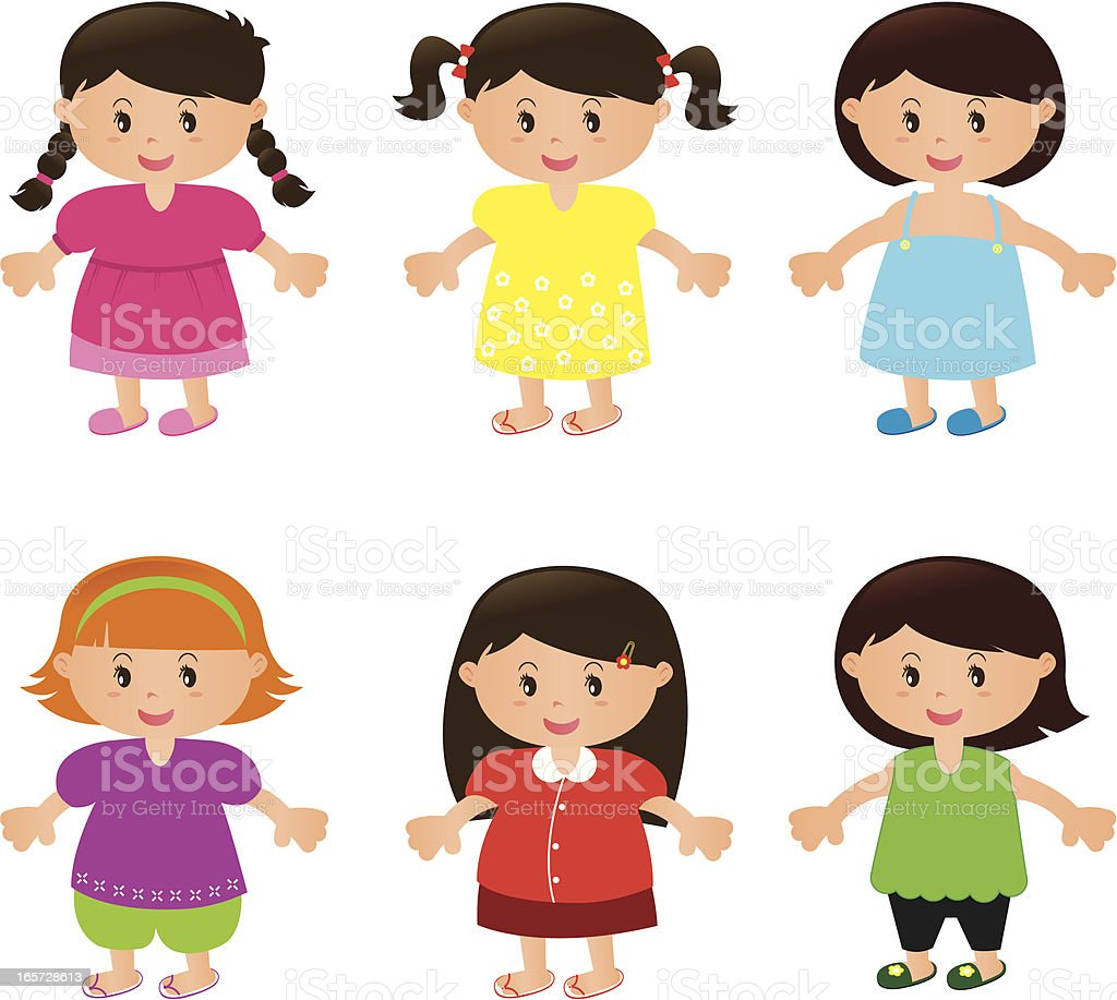 Children Charactor - Girl royalty-free stock vector art