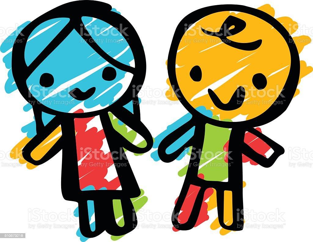Children Doodle vector art illustration