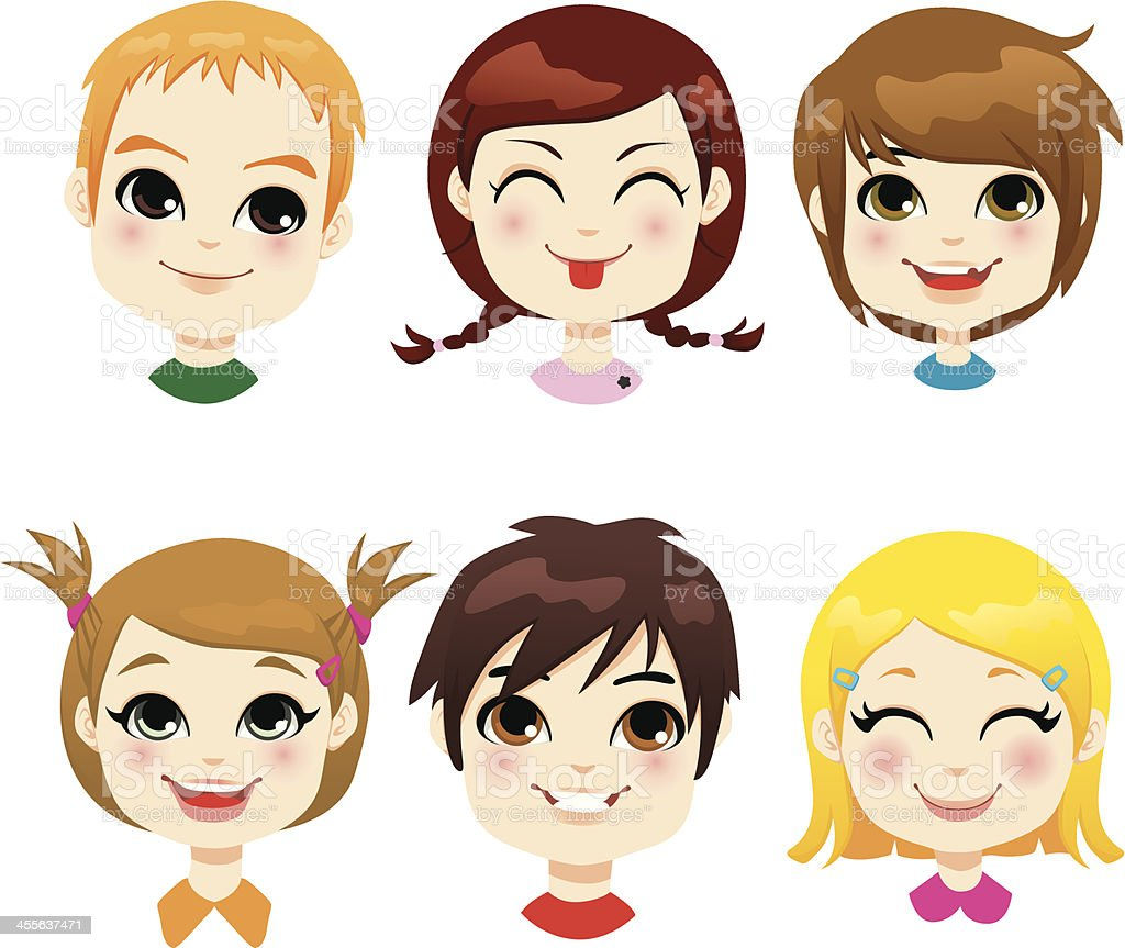 Children Facial Expression royalty-free stock vector art