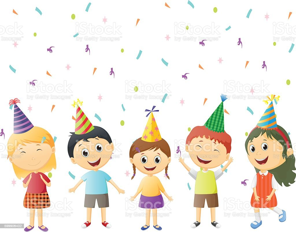 children happy celebrate party hat stock vector art Free Art for Commercial Use Ring of Fire Clip Art Free for Commercial Use