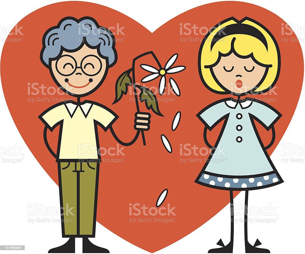 children heart and flower royalty-free stock vector art