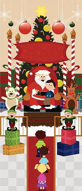 Santa Mall Clip Art, Vector Images & Illustrations