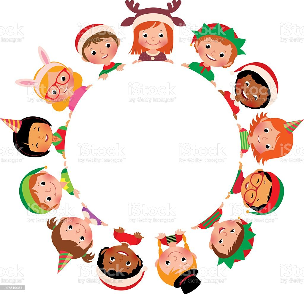 Children Of Different Nationalities In The Costumes Of Christmas ...