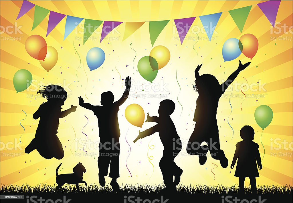 Children Party royalty-free stock vector art