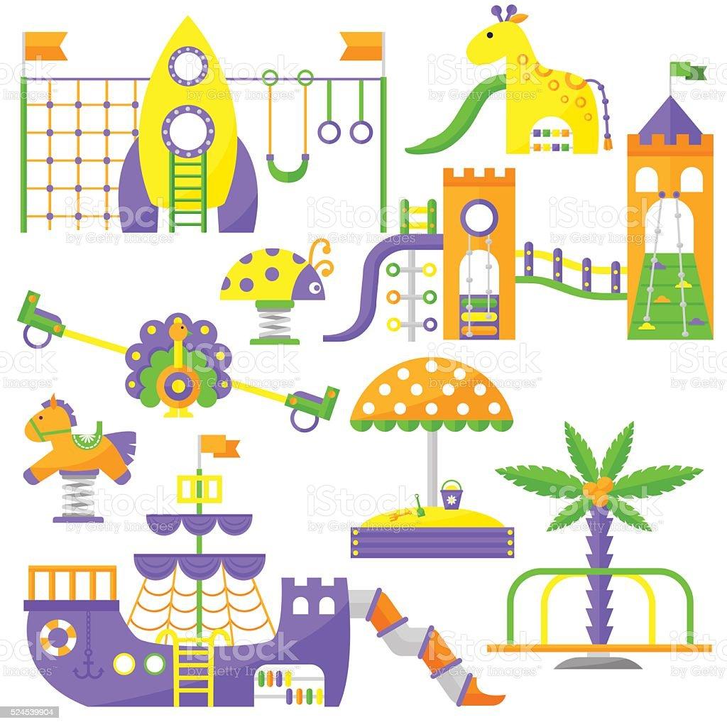 patio de juegos para nios el parque de juegos infantiles de la diversin actividad plano