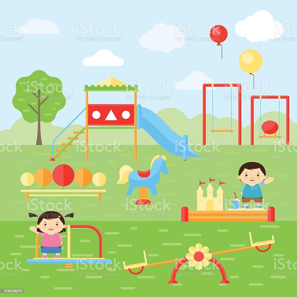 nios jugando en el patio de juegos patio de juegos para nios
