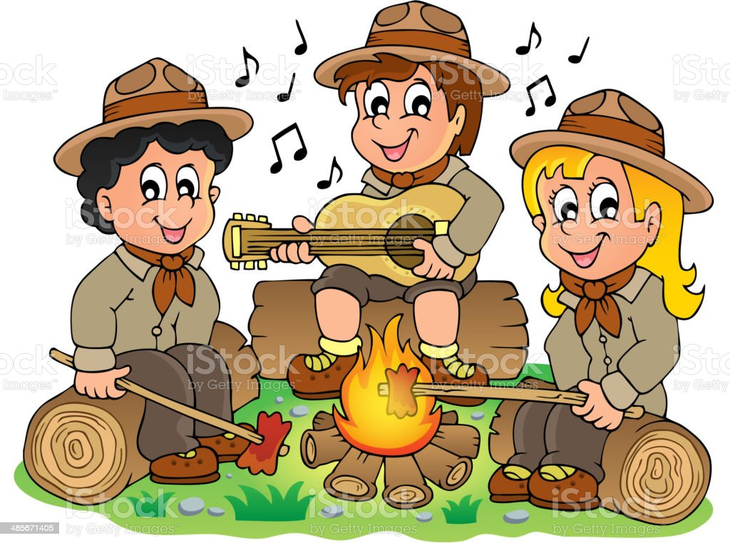 Children scouts theme image 1 royalty-free stock vector art