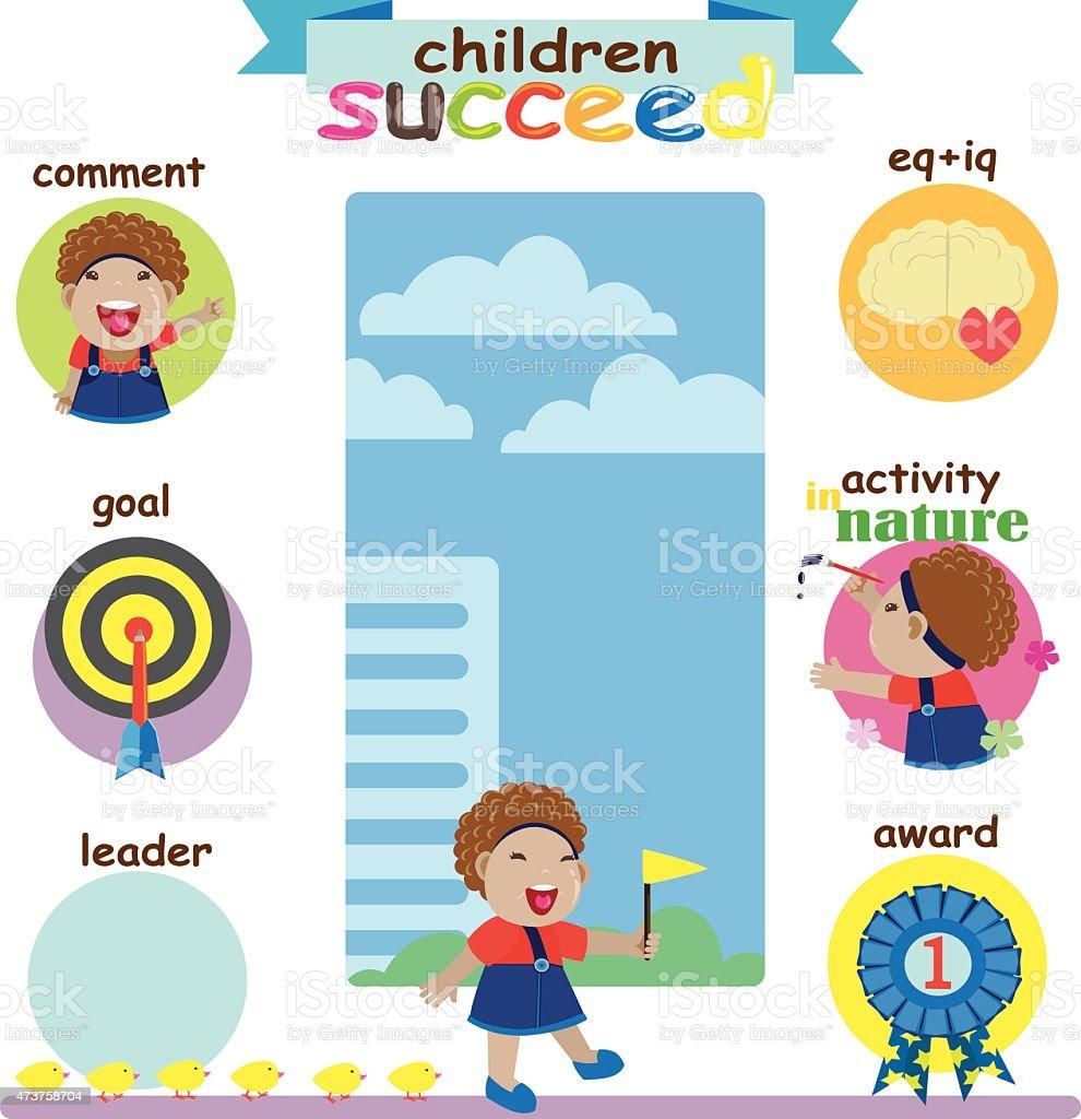 Bambini di successo illustrazione royalty-free