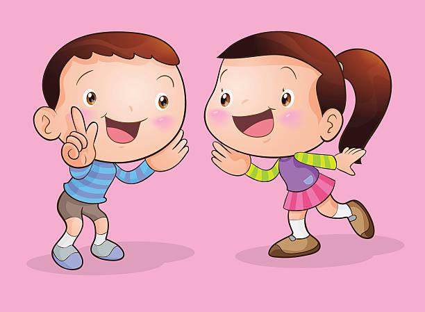 Kids Talking Clip Art, Vector Images & Illustrations - iStock